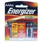 Pilha Alcalina AAA Palito Energizer Max - Leve 6 Pague 4