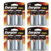 Pilha Energizer Max SM Grande D2 4 Catelas 8 Pilhas