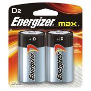 Pilha Energizer Max SM Grande D2 Cartela c/ 2 Unidades