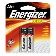 Pilha Energizer Max SM Pequena AA2 10 cartelas c/2 20 pilhas
