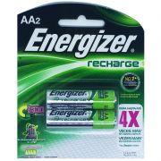 Pilha Recarregável Energizer AA - Com 2 Pilhas Pequena