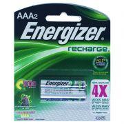 Pilha Recarregável Energizer AAA - Com 2 Pilhas Palito
