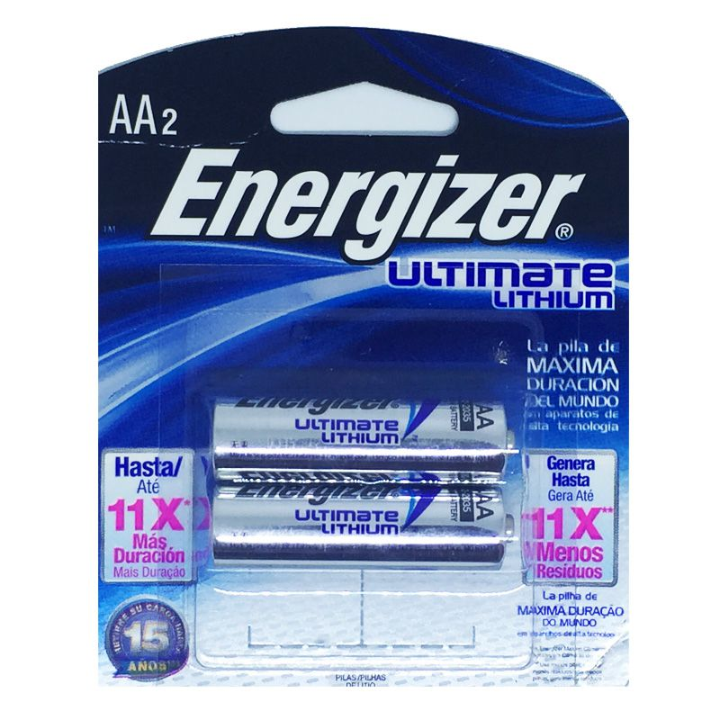 2 Pilha AA 1.5v Lithium Energizer Litio Ultimate AA2  - KZ Power