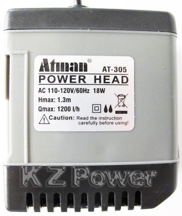 Bomba Submersa Atman At-305 1200 L/hora Disponivel Em 110v.  - KZ Power