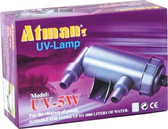 Filtro Uv 5w Atman Ultra Violeta Para Aquários E Lagos 220v.  - KZ Power