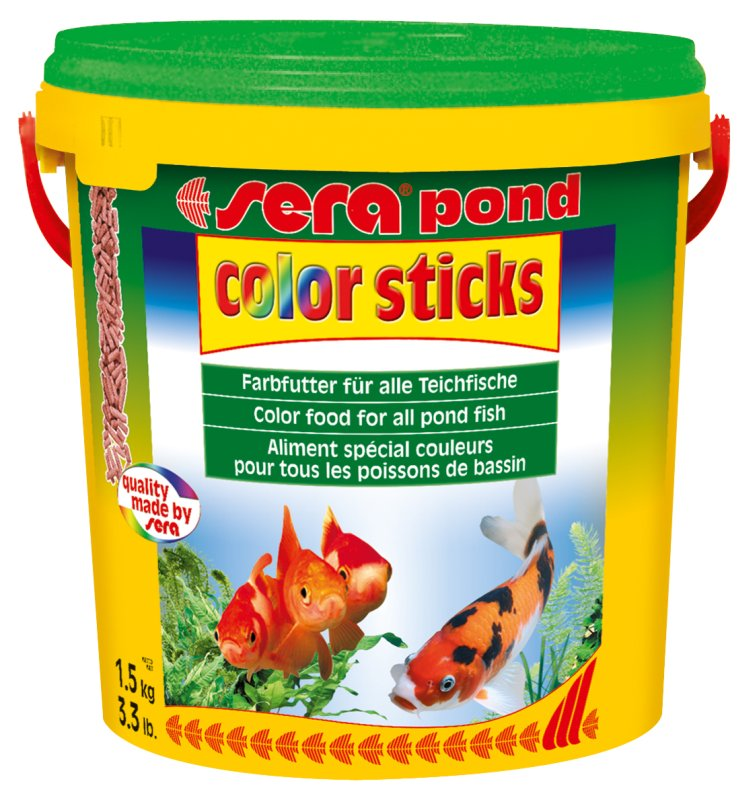 Ração sera pond color sticks carpas e kinguios 1,5kg  - KZ Power