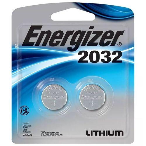 Bateria Botao Energizer 2032 Lithium 3V Cartela com 2 CR2032  - KZ Power