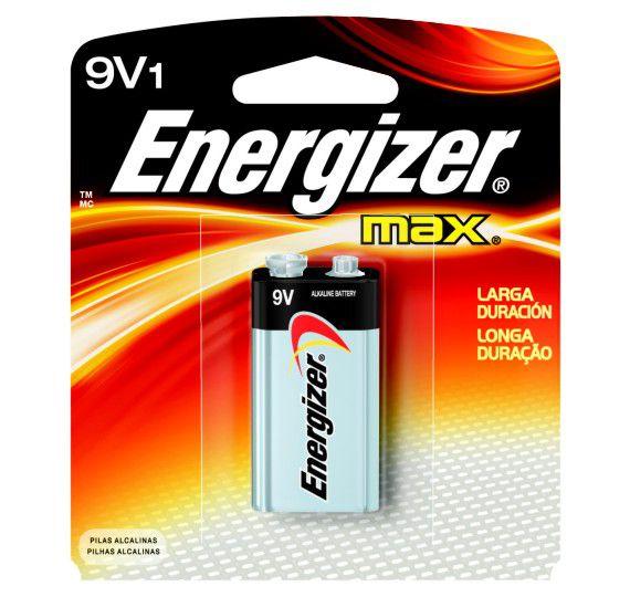 Bateria Energizer  9V Max 1 Unidade  - KZ Power