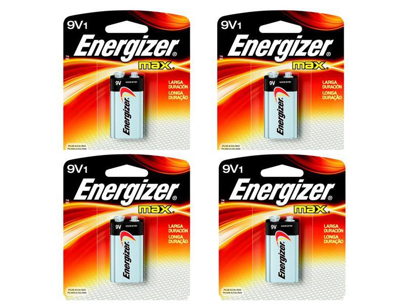 Bateria Energizer 9V Max 4 Unidades  - KZ Power