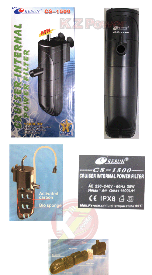 Filtro Bomba Interno P/ Aquários De 150l Resun Cs-1500 220v.  - KZ Power