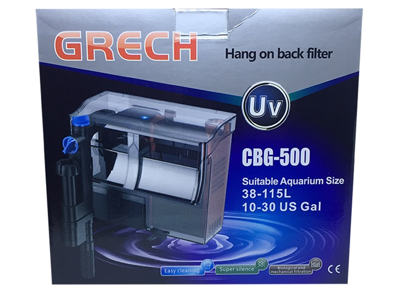 Filtro Externo Com Uv 5w Hang On Grech Cbg-500 - 127v.  - KZ Power