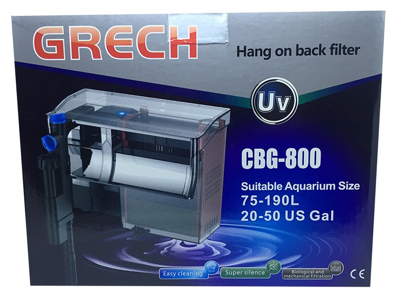 Filtro Externo Com Uv 5w Hang On Grech Cbg-800 - 220v.  - KZ Power