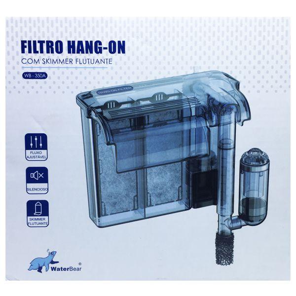 FILTRO EXTERNO HANG ON SLIM WB-350 350L/H P/ AQUARIOS ATÉ 90L 127V  - KZ Power