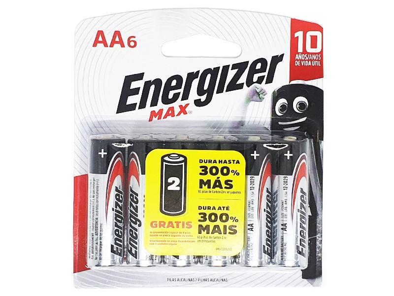 Pilha Alcalina AA Pequena Energizer Max - Leve 6 Pague 4  - KZ Power