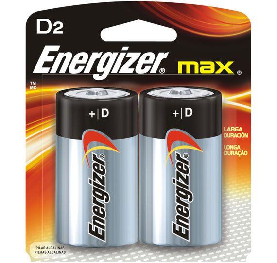 Pilha Energizer Max SM Grande D2 Cartela c/ 2 Unidades  - KZ Power