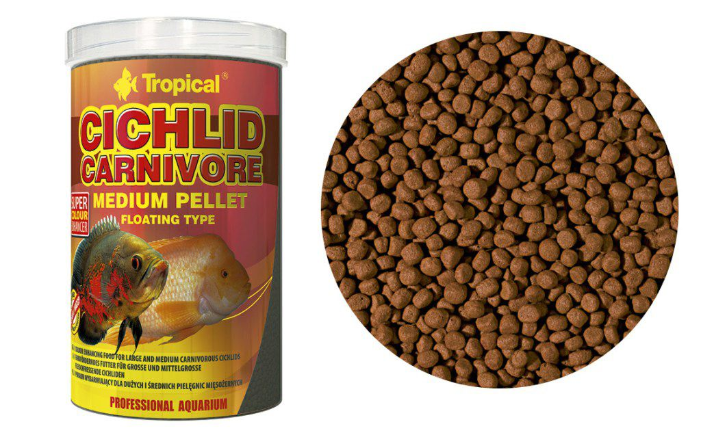 RAÇÃO CICHLID CARNIVORE MEDIUM PELLET 360gr TROPICAL  - KZ Power