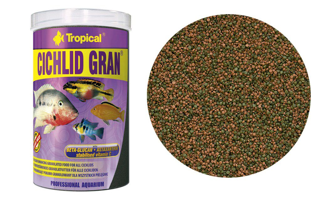 RAÇÃO CICHLID GRAN 550gr TROPICAL  - KZ Power