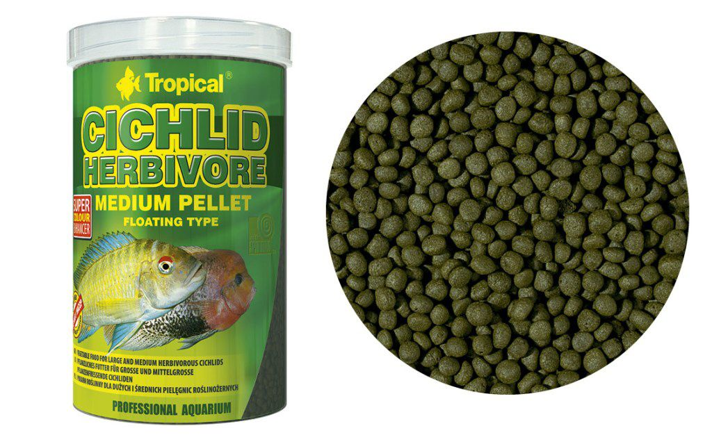 RAÇÃO CICHLID HERBIVORE MEDIUM PELLET 180gr TROPICAL  - KZ Power