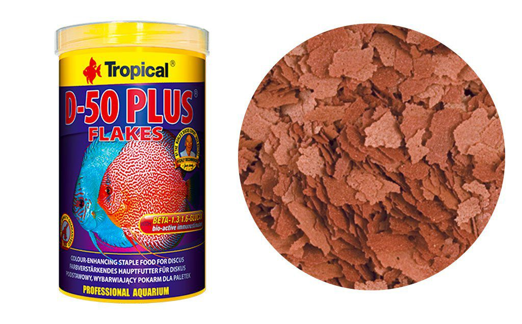 RAÇÃO D-50 PLUS FLOCOS 50gr TROPICAL  - KZ Power