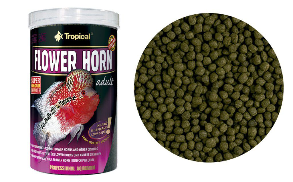 RAÇÃO FLOWER HORN ADULT PELLET 190gr TROPICAL  - KZ Power