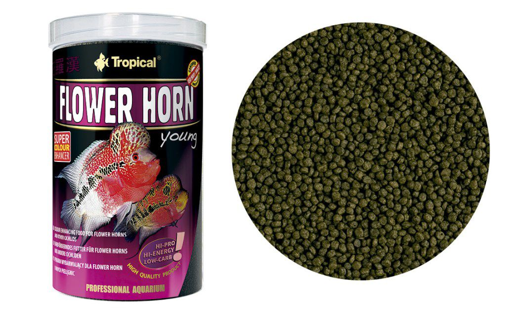 RAÇÃO FLOWER HORN YOUNG PELLETS 95gr TROPICAL  - KZ Power
