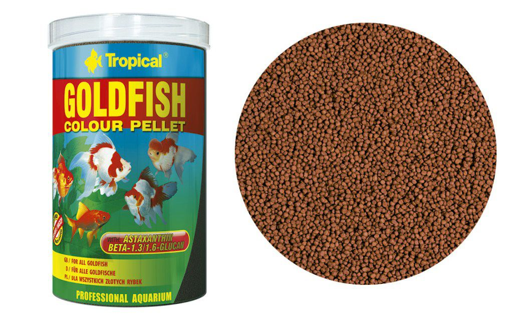 RAÇÃO GOLDFISH COLOUR PELLET 90gr TROPICAL  - KZ Power