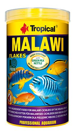RAÇÃO MALAWI FLOCOS 50gr TROPICAL  - KZ Power
