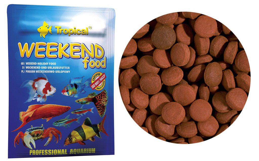 RAÇÃO  PARA AS FÉRIAS: WEEKEND FOOD 20gr TROPICAL  - KZ Power