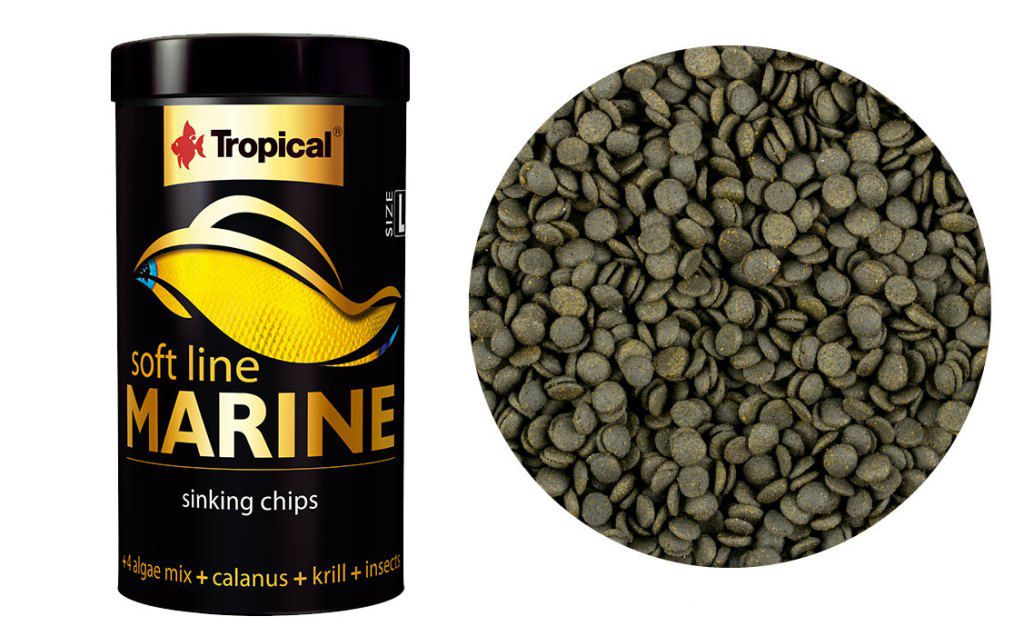RAÇÃO SOFT LINE MARINE ( L ) 130gr TROPICAL  - KZ Power