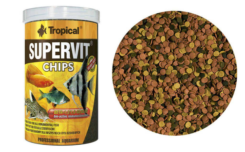 RAÇÃO SUPERVIT CHIPS 130gr TROPICAL  - KZ Power