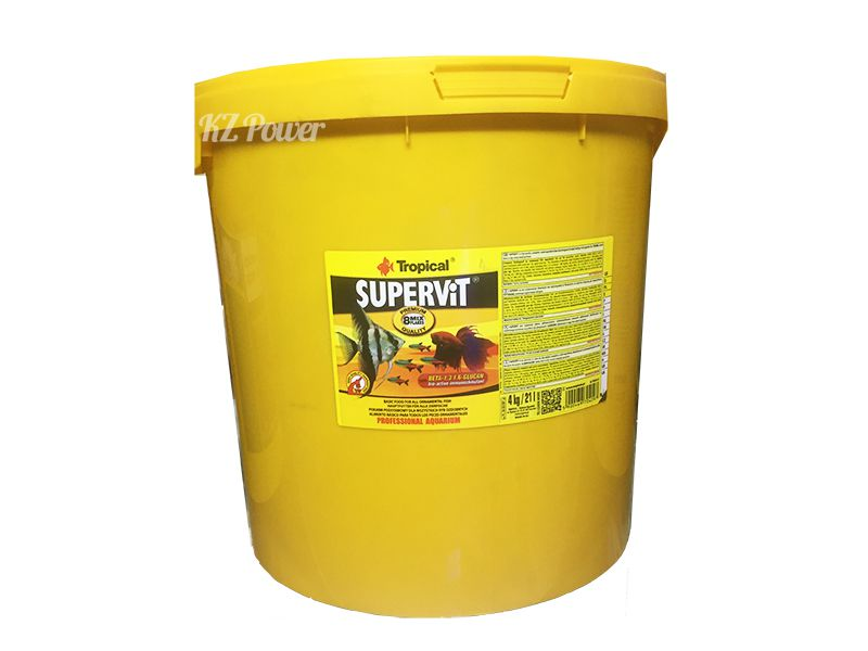 RAÇÃO SUPERVIT FLOCOS BALDE 4kg TROPICAL  - KZ Power