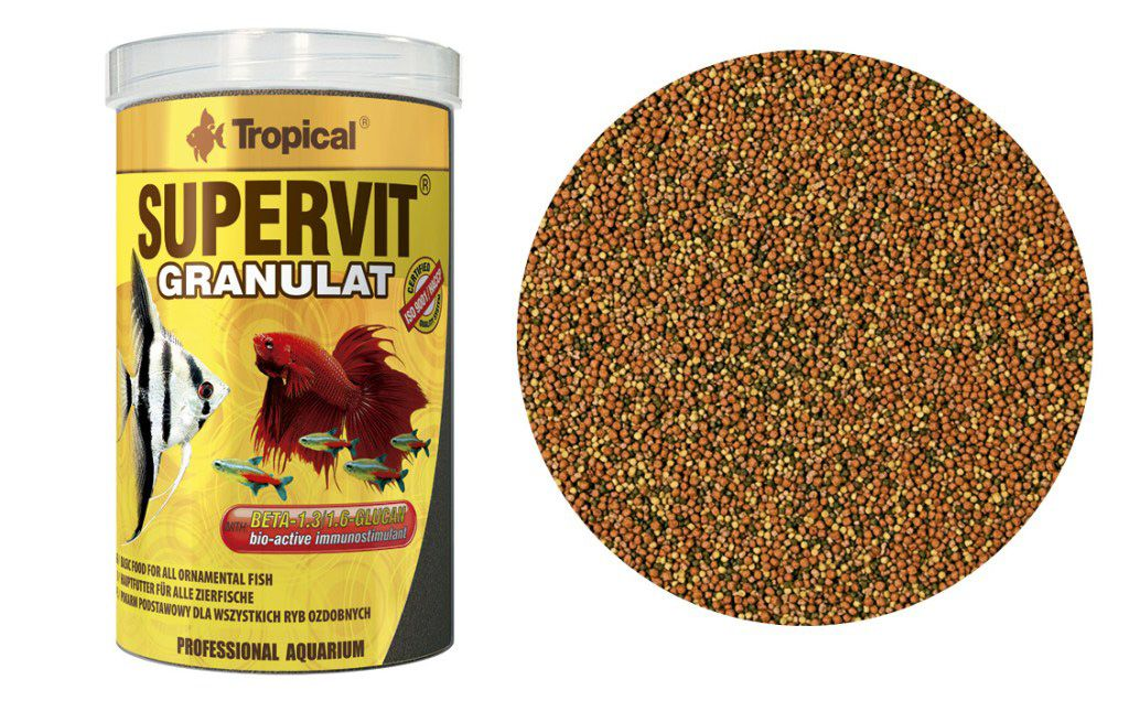 RAÇÃO SUPERVIT GRANULAT 138gr TROPICAL  - KZ Power