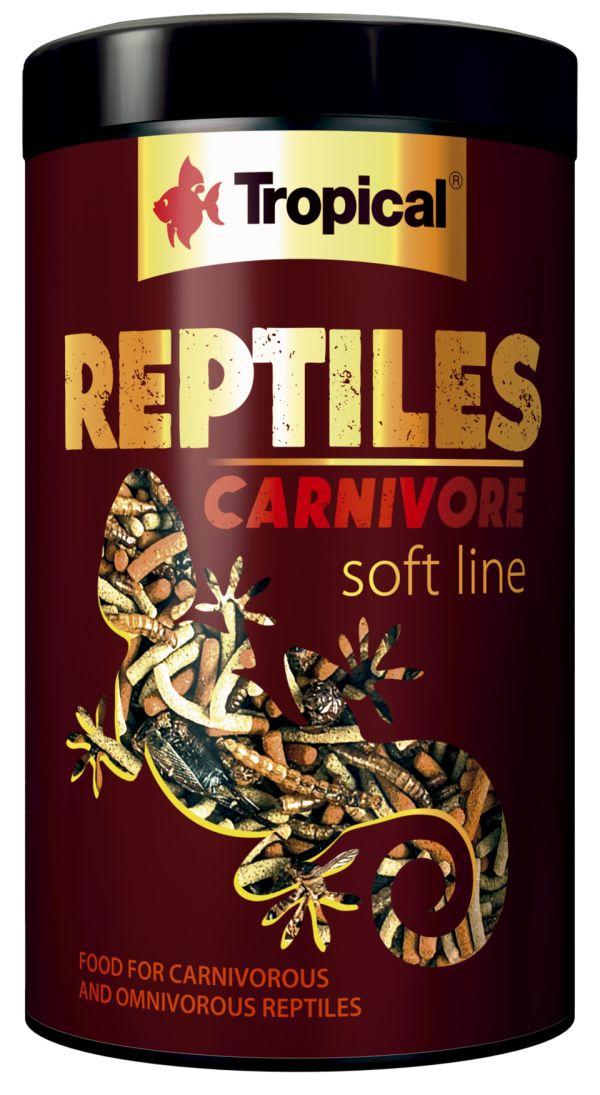 Ração Tropical Soft Line Reptiles Carnivore Mixer 260g  - KZ Power