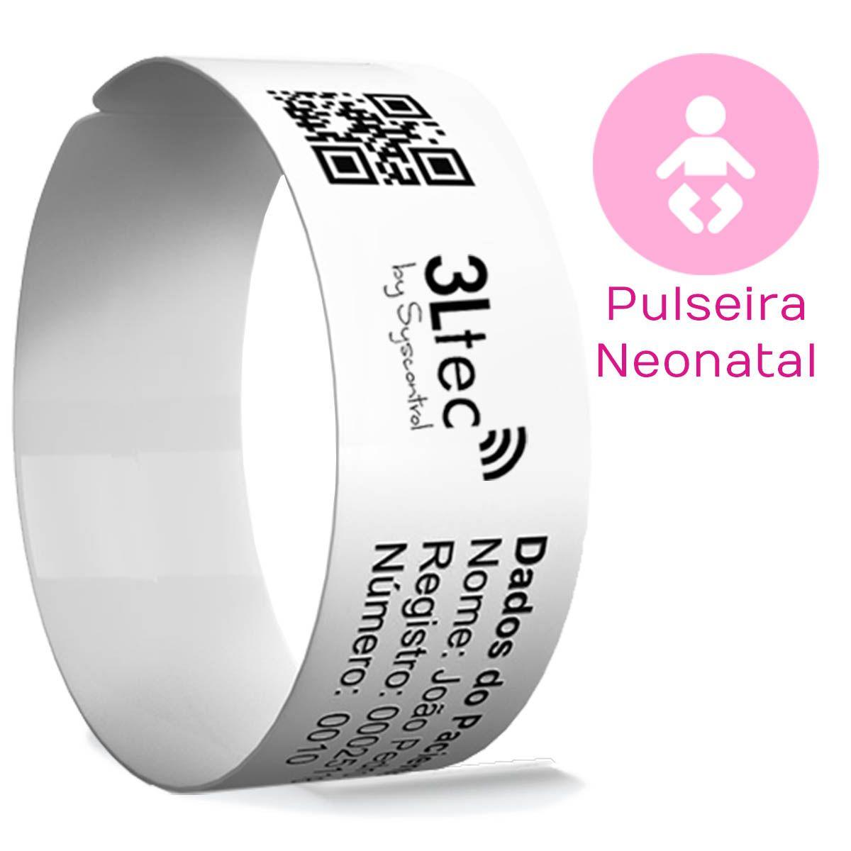 Rolo de Pulseiras de Identificação Hospitalar - NEONATAL - 250 unidades
