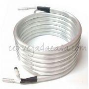 Chiller Tubular de Contra-Fluxo em Alumínio