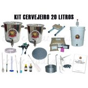 Kit com Caldeirões em Inox p/ Produção de Cerveja Artesanal 20 a 50 litros