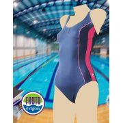 LPC 43 - Maiô para natação com fecho nas costas e recorte no busto