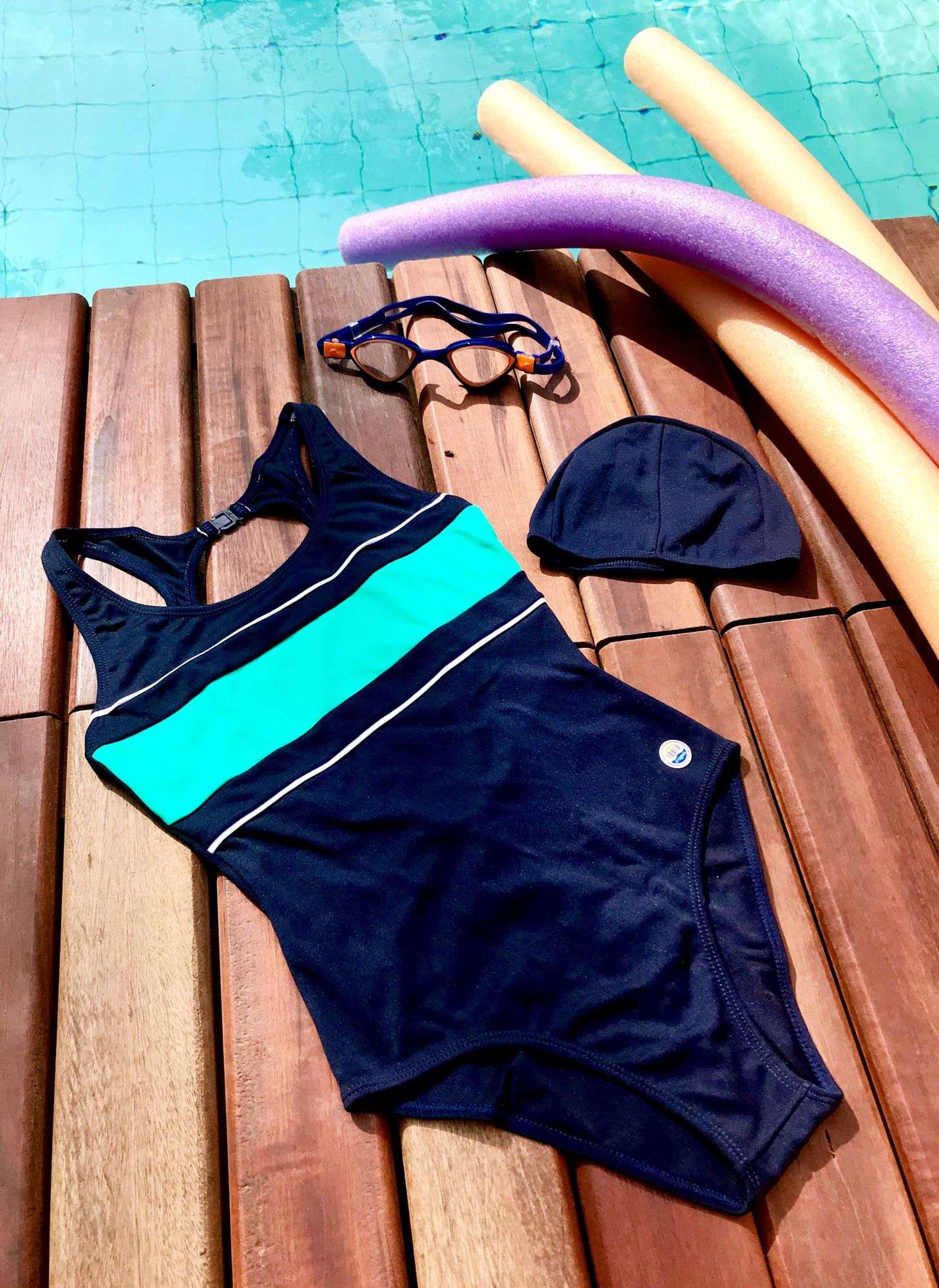 LPC 05 - Maiô para natação com fecho nas costas