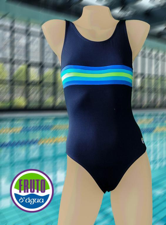 LPC 35 - Maiô para natação com fecho nas costas