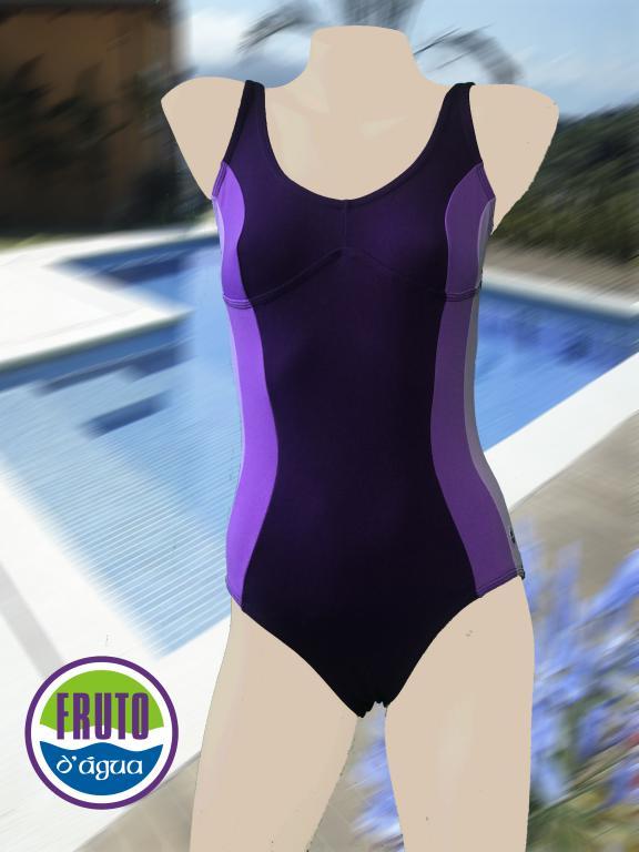 LPC 41 - Maiô para natação com fecho nas costas e recorte no busto