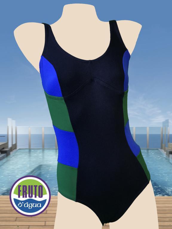 LPC 42 - Maiô para natação com fecho nas costas e recorte no busto