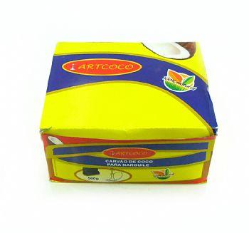 Carvão de coco para narguile e incenso ART COCO - caixa com 30 unidades HEXAGONAL.