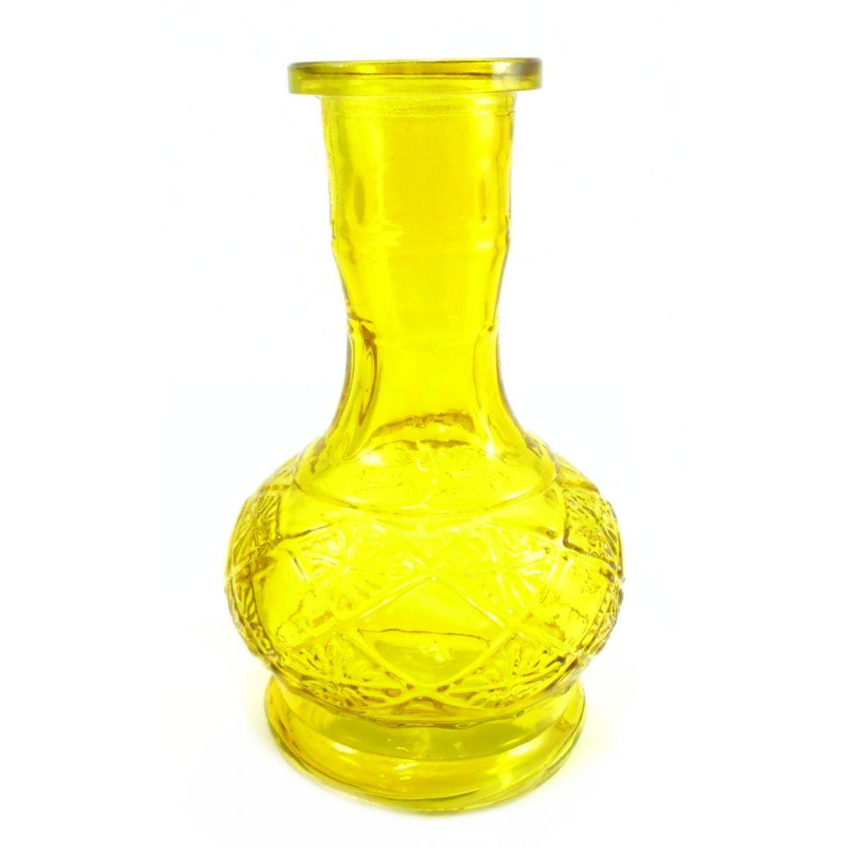 Vaso/base para narguile. 20cm altura e 3,7cm diâmetro do encaixe. Amarelo, vermelho ou verde.
