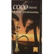 Carvão HEXAGONAL para narguile COCO FRESH - 1kg , 52 unid.
