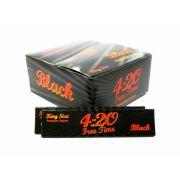 Caixa de seda ULTRA420, KING SIZE BLACK, caixa com 50 livros com 33 folhas cada.