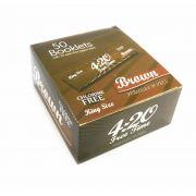 Caixa de seda ULTRA420, KING SIZE BROWN, caixa com 50 livros com 33 folhas cada.