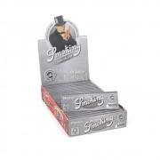 CAIXA de Seda Smoking Master 1 1/4 Prata - 25 livros com 50 folhas cada.