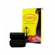 Carvão de coco para narguile e incenso YAHYA - caixa 250 gr, 15 unidades HEXAGONAL.