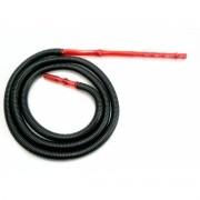 Mangueira p/narguile lavável BLACK HOSE corrugada. Grossa e muito leve. 2,2 metros.