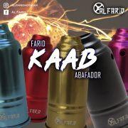 Abafador para narguile AL FARID KAAB em alumínio, com alça de baquelite. 11cm diâm. e 23cm altura